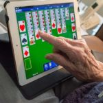 Portable screen for seniors